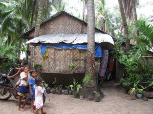 Casas locales de la isla de Malapscua