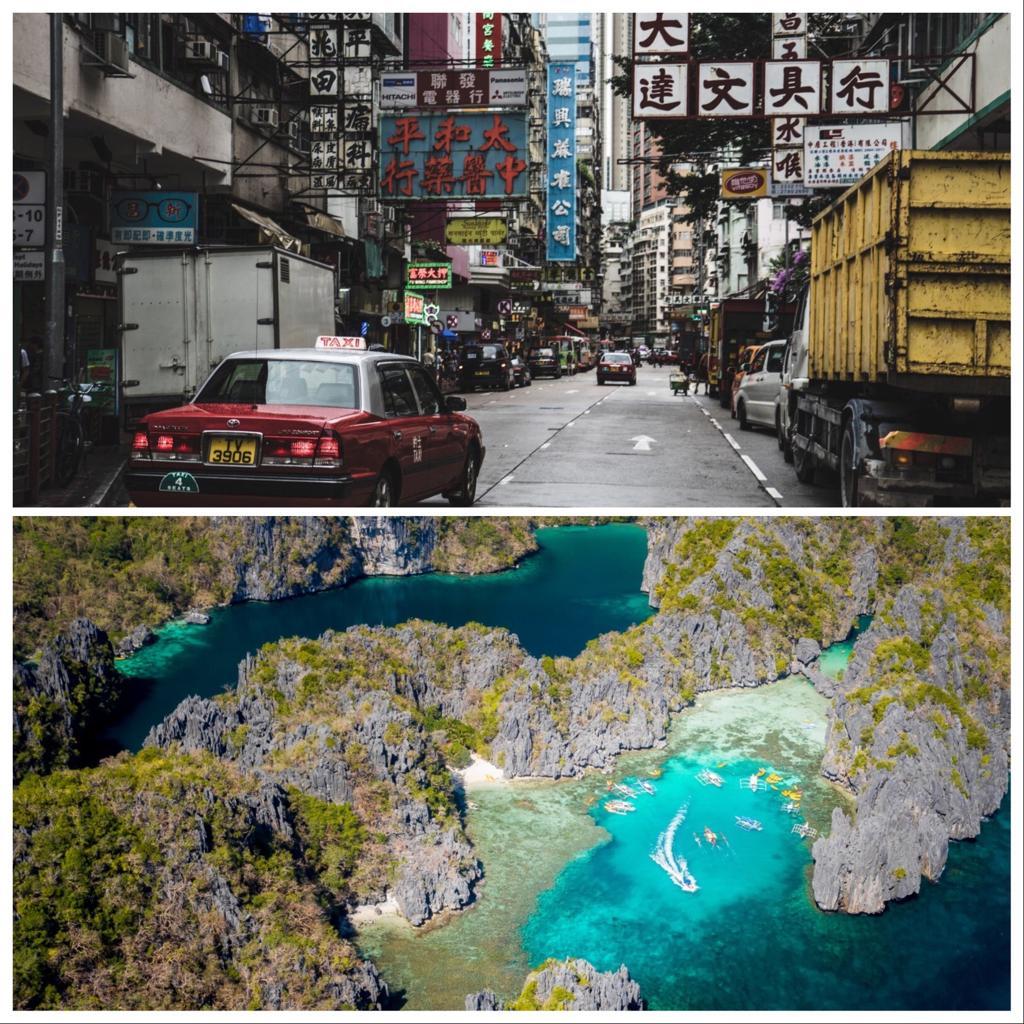 Hong Kong y Filipinas mejores contrastes de Asia