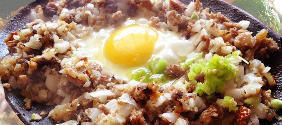 Pork Sisg un plato típico de la comida filipina