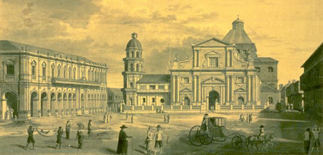 Intramuros durante la época colonial española. el siglo XVIIII