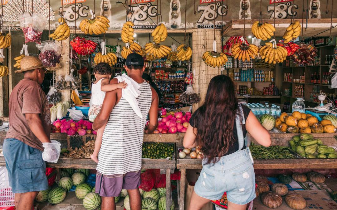 Mercado Siargao, gastronomía filipina